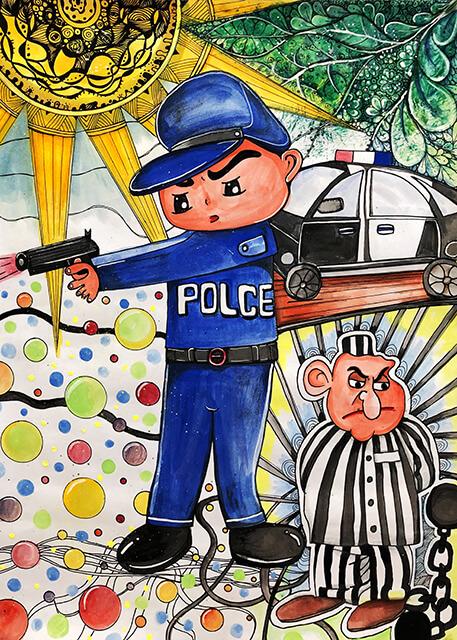 第八屆萬丹山繪畫比賽 得獎作品第一名