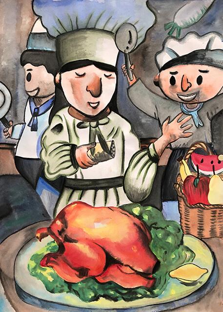 第八屆萬丹山繪畫比賽 得獎作品第二名